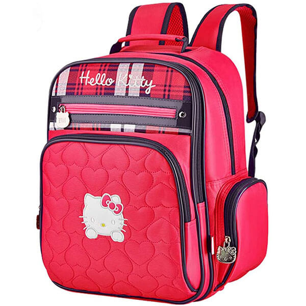 Hello Kitty Front Zipper Stripe Backpack