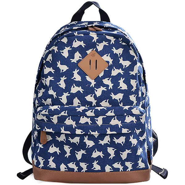 Rabbit Backpack with Faux Leather Botto