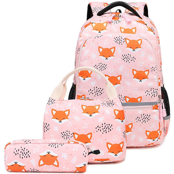 Animal-lover Girl's Backpack Set with Attachments