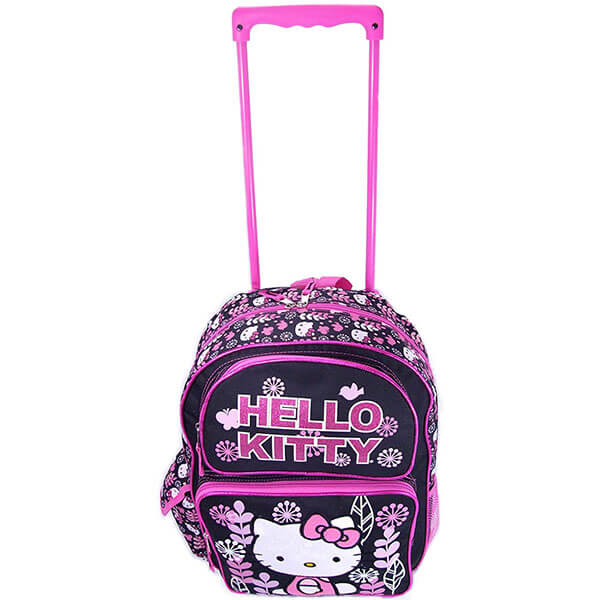 Hello Kitty Rolling Backpack with Leaf Print