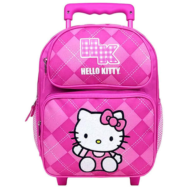 Rolling Backpack with Hello Kitty Logo