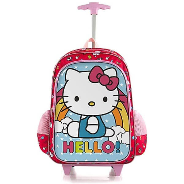Glittered PVC Fabric Rolling Backpack