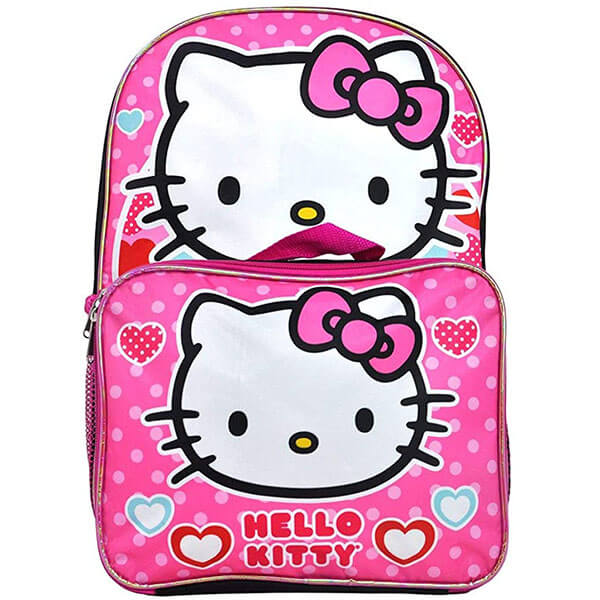 Secondary Schooler Girls Pink Kitty Backpack