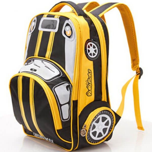 Children's Yellow Car Transformer Backpack