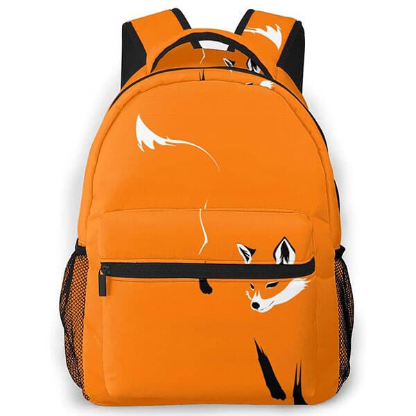 Orange Canvas Waterproof Fox Backpack