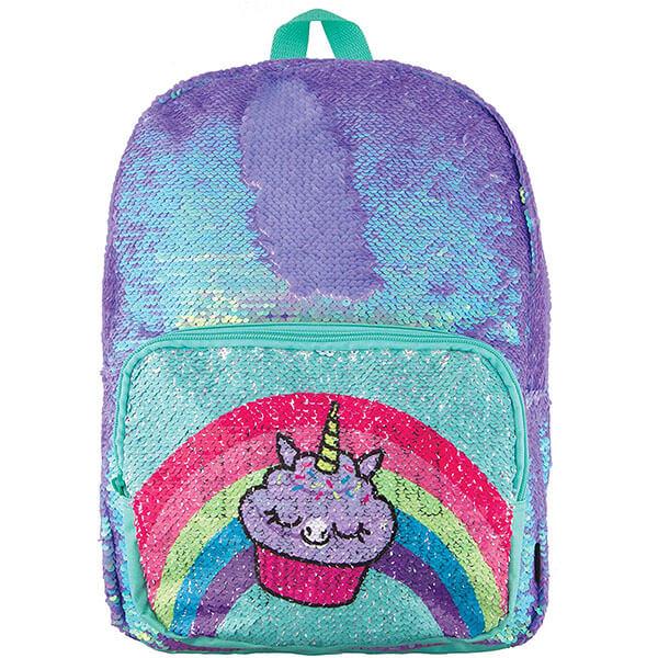 Periwinkle Cupcake School Backpack