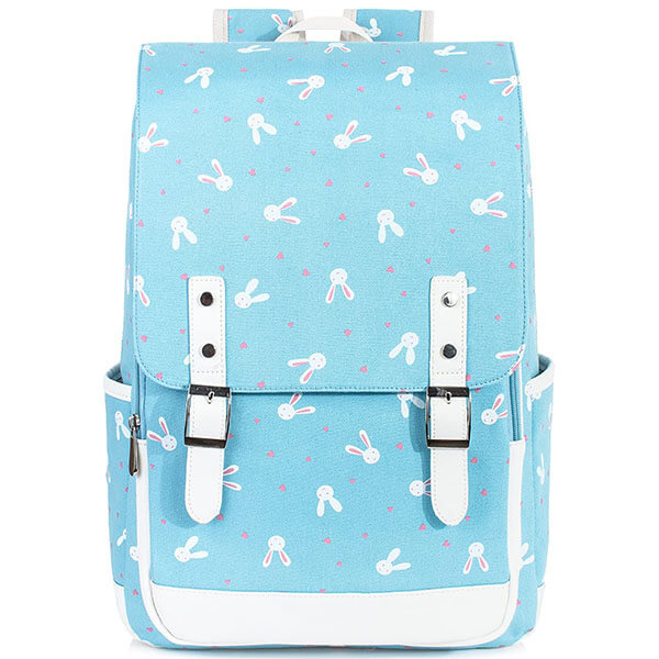 Reinforced Stitches Rabbit Backpack with Buckles