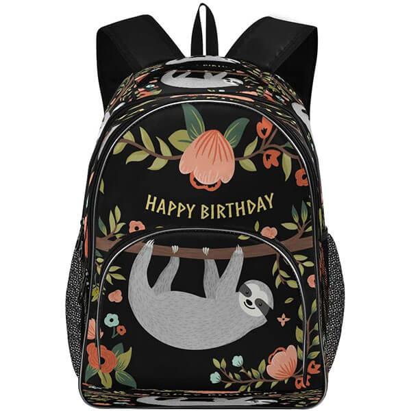 Birthday Gift Twill Weave Flower Backpack