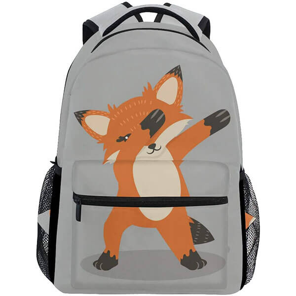 Fun Teens Fox Backpack with Dub Dancing Sign