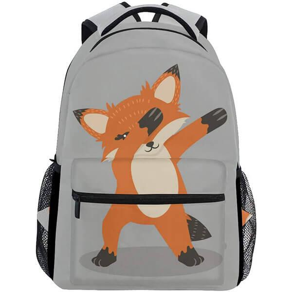Fun Teens Fox Backpack with Dub Dancing Sign