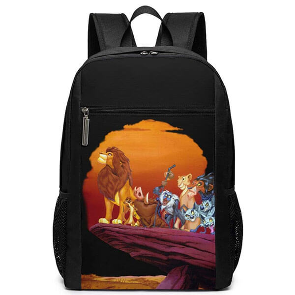 The King Lion Sun Setting Print Backpack