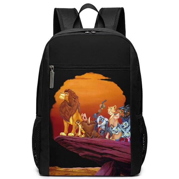 The King Lion Sun Setting Print Backpack