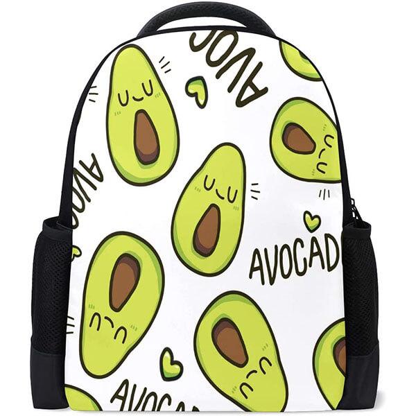 Waterproof Avocado Emoji Backpack