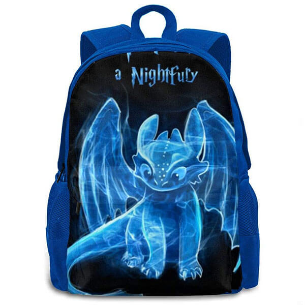 Blue Printed Night Fury Backpack