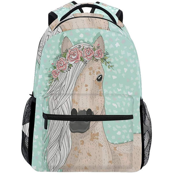Fashionable Backpack with Elastic Bottle Pockets