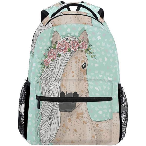 Fashionable Backpack with Elastic Bottle Pockets