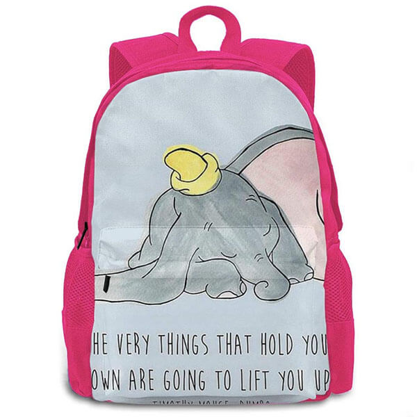 Pink Color Dumbo the Cute Elephant Backpack