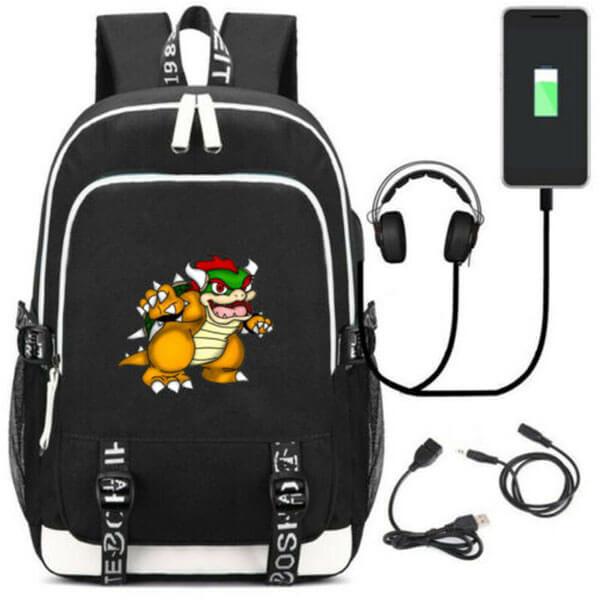 USB Black Bowser Backpack