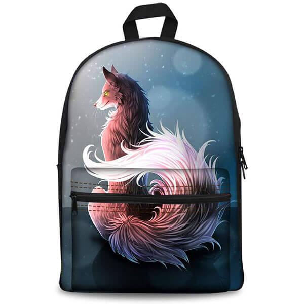 Animal Fox Themed Galaxy Backpack