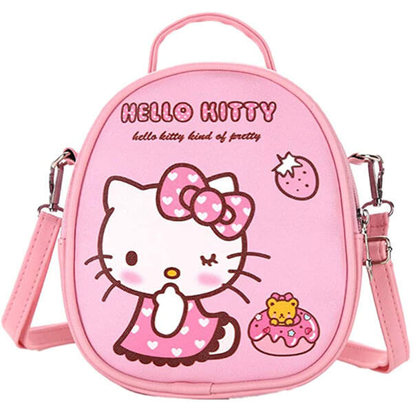 Hello Kitty Mini Backpack with Strawberry Donuts
