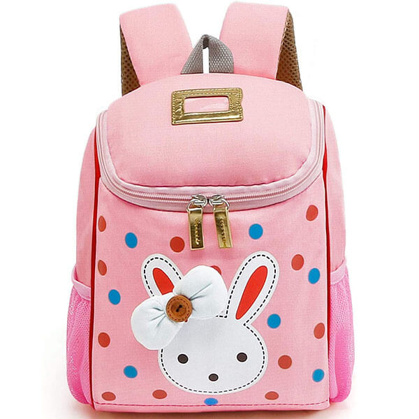 Rabbit Backpack with Colorful Polka Dots