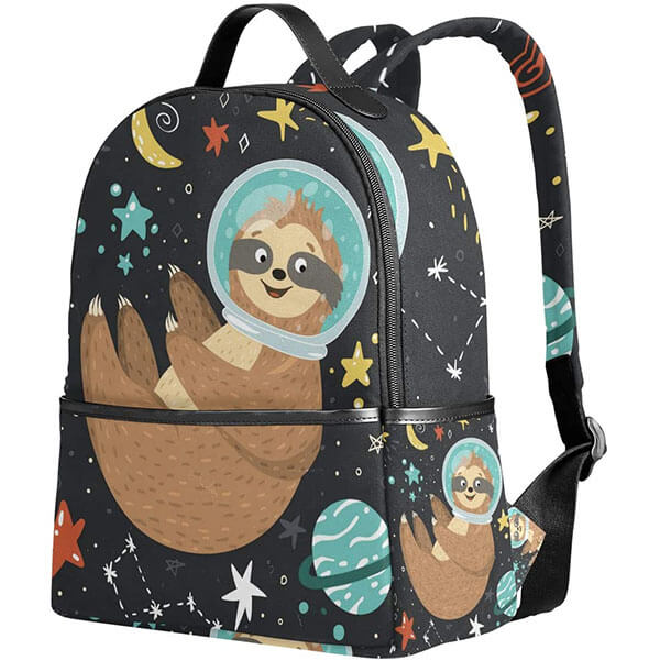 Sloth Astronaut Grade Schooler Backpack