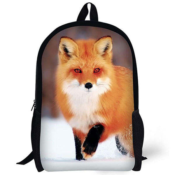 Fashionable 3D Printed Animal Fox Backpack