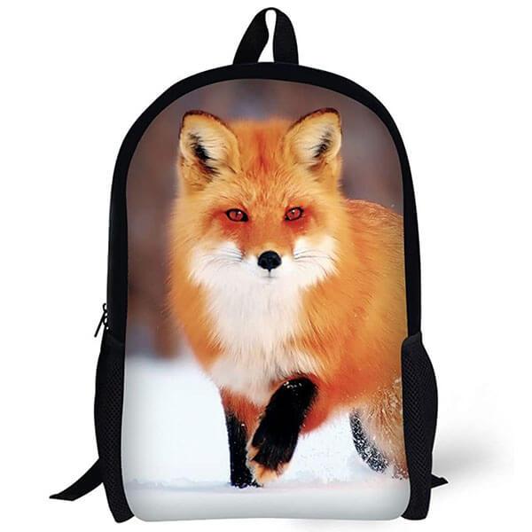 Fashionable 3D Printed Animal Fox Backpack