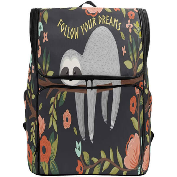 Funny Sleeping Sloth Backpack for College