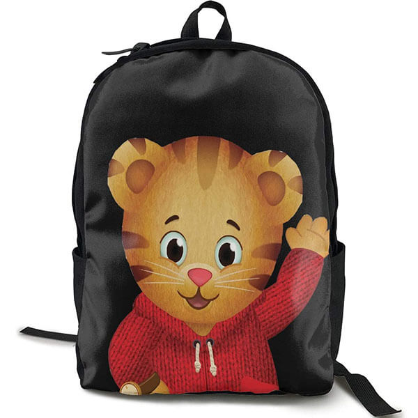 Daniel Tiger in Red Zip-up Hoodie Backpack