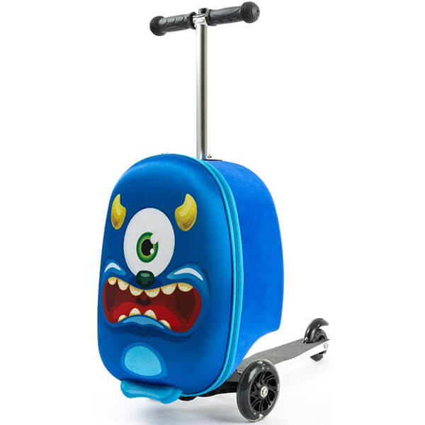 One Green Eye Monster Scooter Backpack