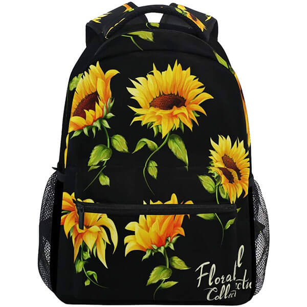 Watercolor Art Sunflower Backpack for College