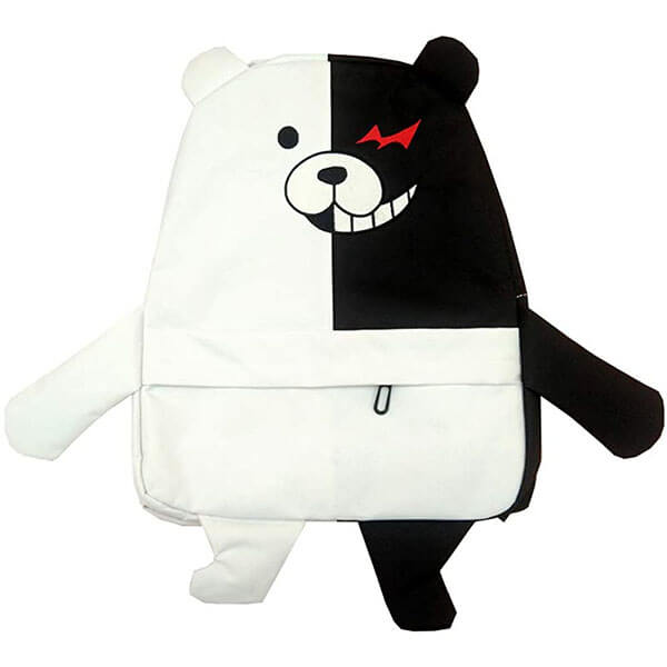 Black and White 3D Monokuma Backpack