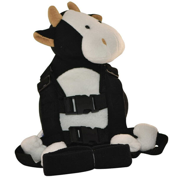 3D Cow Backpack with Walking Leash Strap