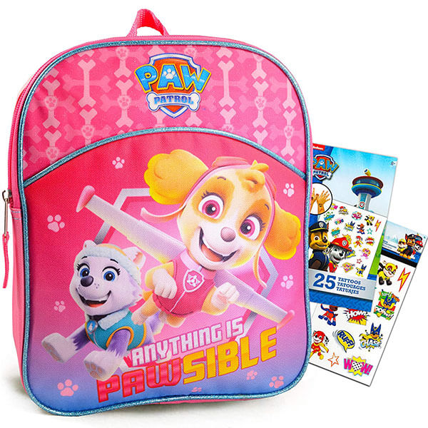 Anything is Pawsible Book Bag with Stickers
