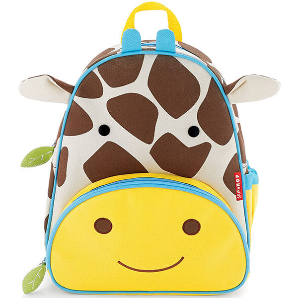 Giraffe Backpack with Smiley Face