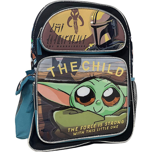 Multicolor Graphical Print Yoda Backpack