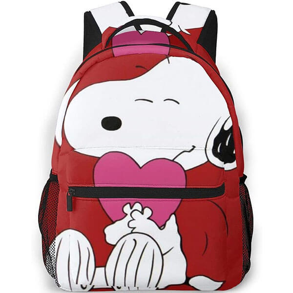 Snoopy Love Peanuts Casual Backpack for Men Women