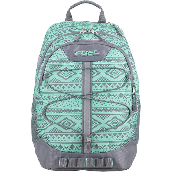 Soft Silver Fuel Aztec Printed Turquoise Backpack