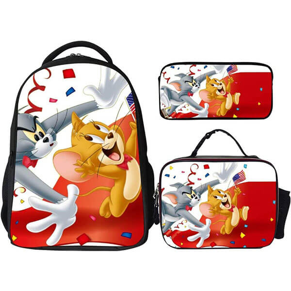 3 in 1 Tom and Jerry Backpack Set