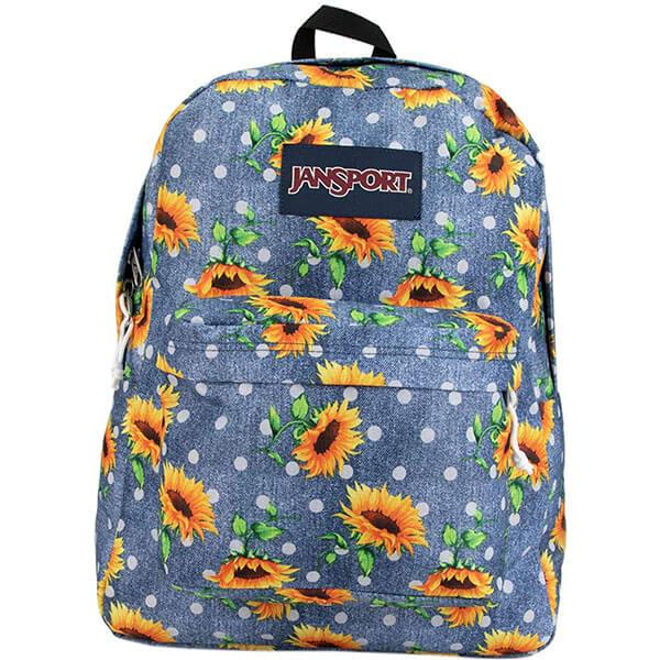 600-Denier Sunflower Ball-Print Backpack