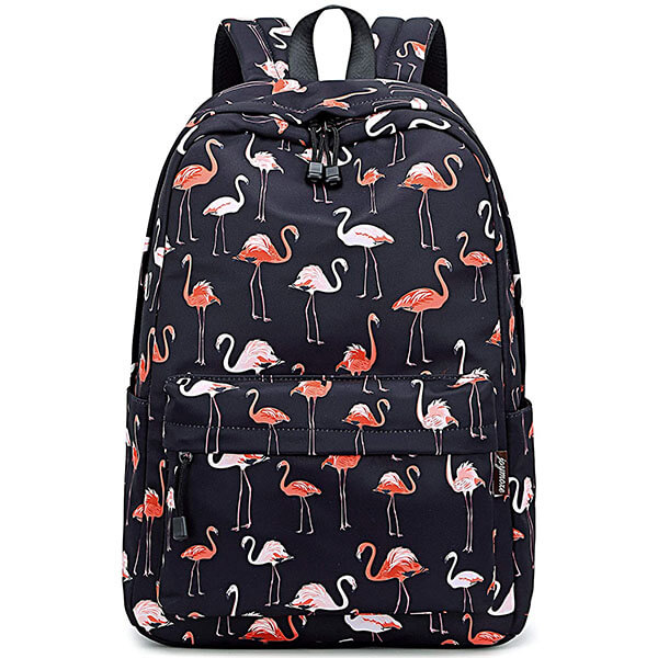 All Over Flamingo Print Backpack