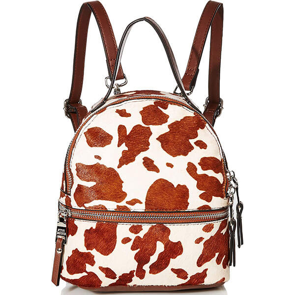 Cow Skin Print Mini Backpack