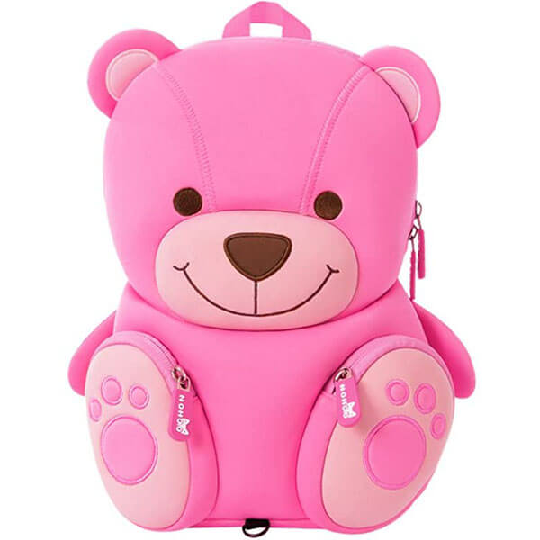 Pink Teddy Bear Backpack for Girls