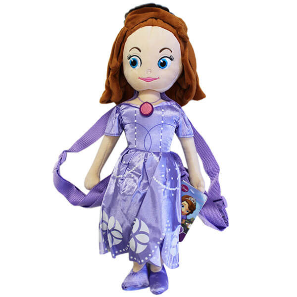 Princess Sofia Kids Plush Backpack