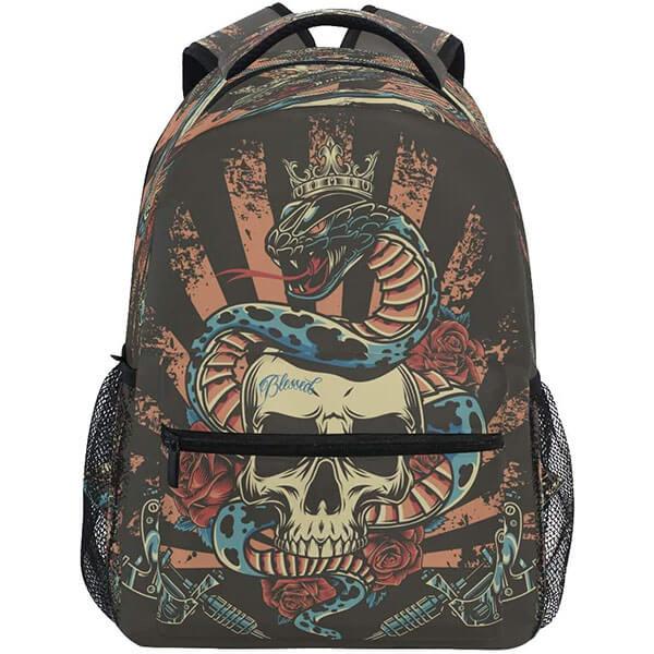 Snake in Skull Kids Backpack