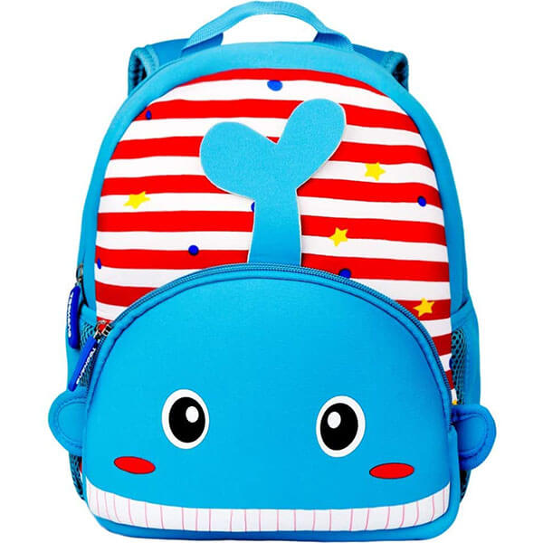3D Cartoon Whale Backpack