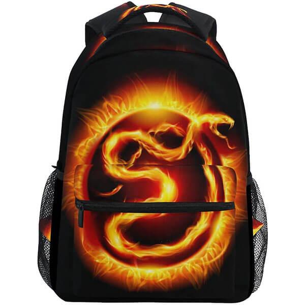 Burning Snake Kids Backpack