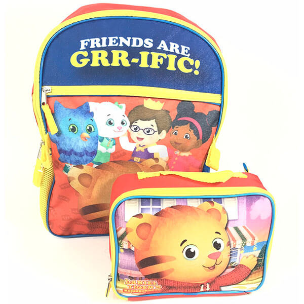 Daniel Tiger All Characters Print Backpack Set