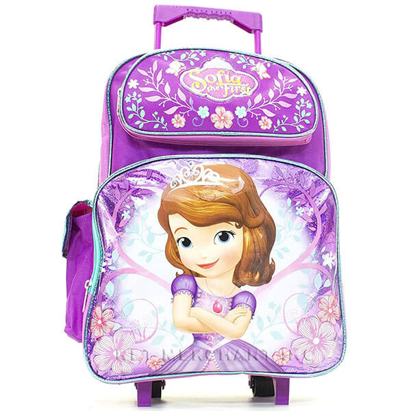 Disney Sofia the First Rolling Backpack